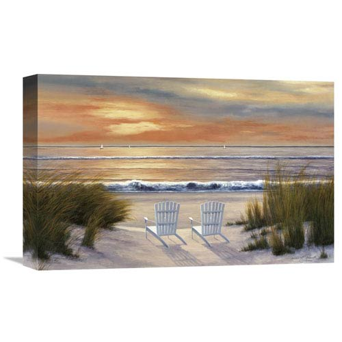 Global Gallery Paradise Sunset By Diane Romanello, 18 X 12-Inch Wall Art