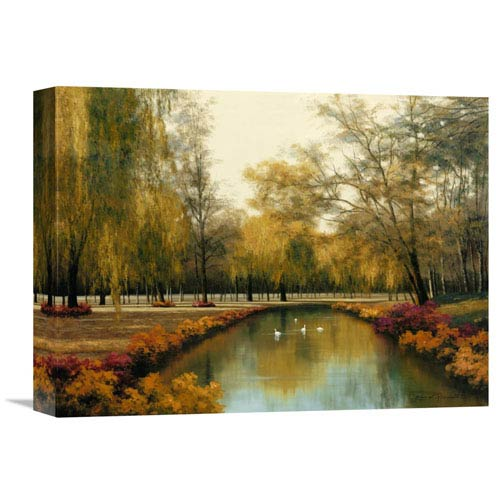 Global Gallery Weeping Willow By Diane Romanello, 16 X 12-Inch Wall Art