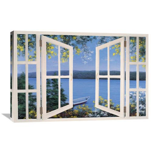 Global Gallery Island Time With Window By Diane Romanello, 36 X 24-Inch Wall Art