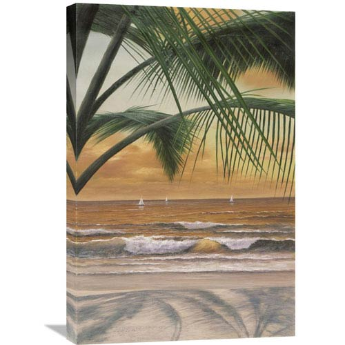 Global Gallery Paradiso Sunset By Diane Romanello, 20 X 30-Inch Wall Art