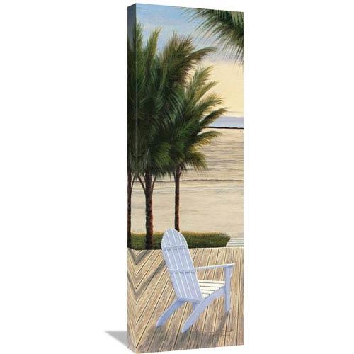 Global Gallery Palm Beach Retreat Panel I By Diane Romanello, 12 X 36-Inch Wall Art