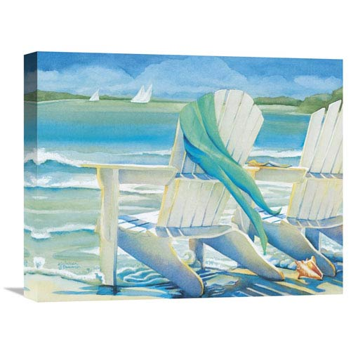 Global Gallery Seaside Breeze By Kathleen Denis, 20 X 16-Inch Wall Art