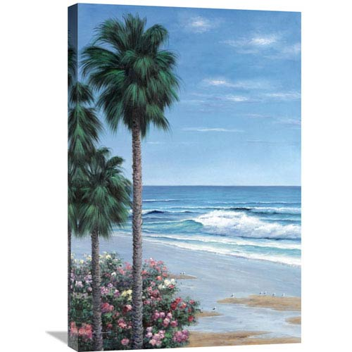 Global Gallery Beach Place By Diane Romanello, 20 X 30-Inch Wall Art