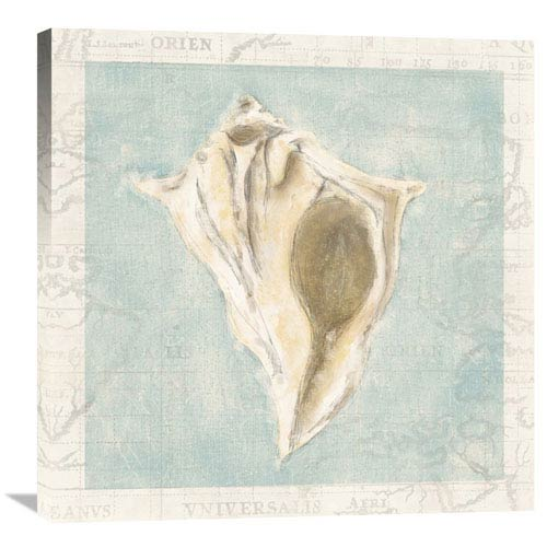 Global Gallery Framed Shells III By Gaetano, 30 X 30-Inch Wall Art
