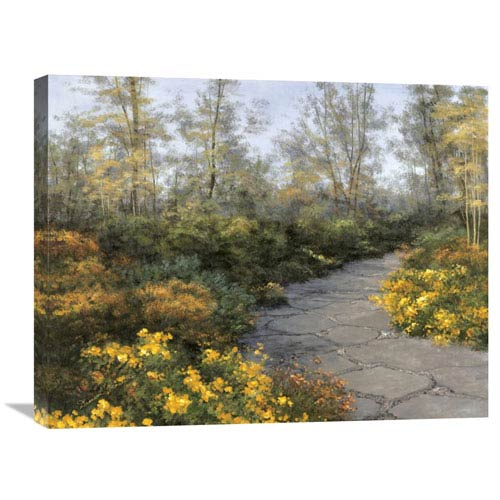 Global Gallery Step Into Autumn By Diane Romanello, 28 X 22-Inch Wall Art