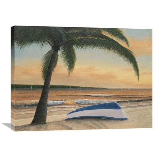 Global Gallery Golden Sunset By Diane Romanello, 32 X 24-Inch Wall Art