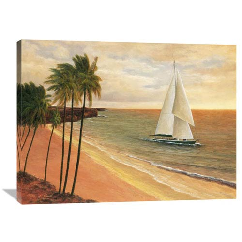Global Gallery Tropical Holiday By Diane Romanello, 40 X 30-Inch Wall Art