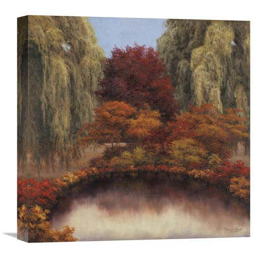 Global Gallery Autumns Glow By Diane Romanello, 18 X 18-Inch Wall Art