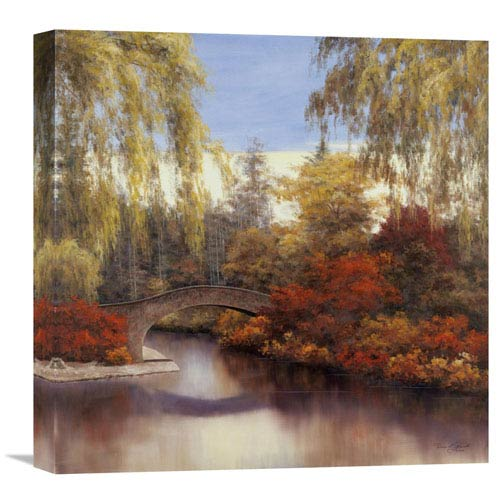 Global Gallery Autumn Crossing By Diane Romanello, 18 X 18-Inch Wall Art