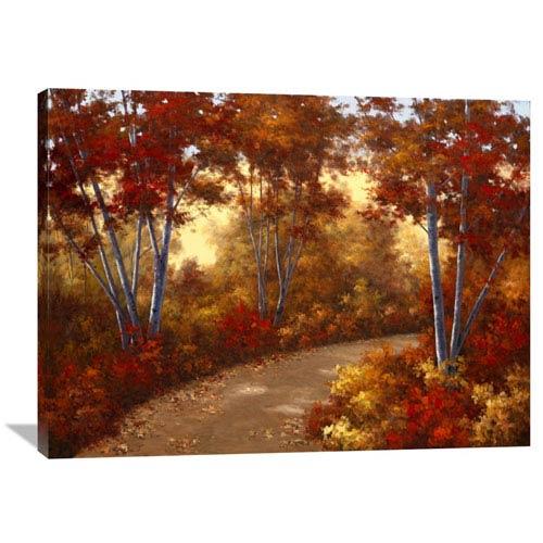 Global Gallery Golden Birch By Diane Romanello, 40 X 30-Inch Wall Art