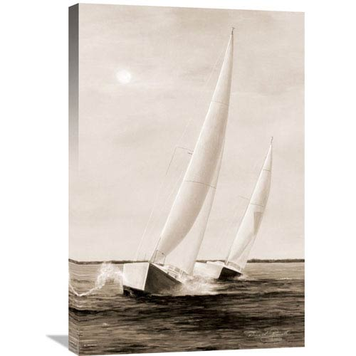 Global Gallery Blue Sails By Diane Romanello, 20 X 30-Inch Wall Art