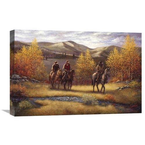 Global Gallery Fall Riders By Sambataro, 24 X 16-Inch Wall Art