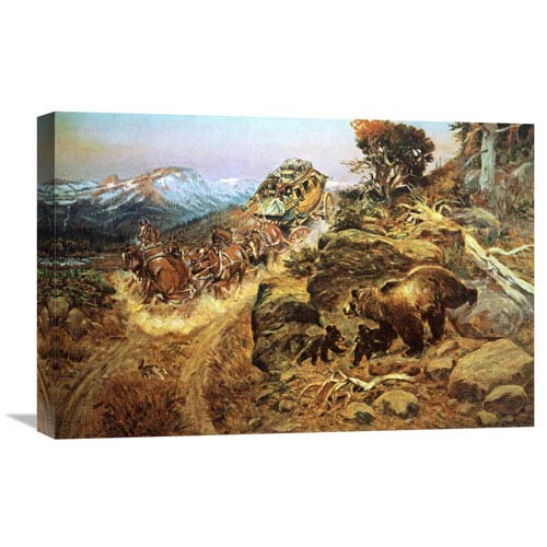 Global Gallery Bruin Not Bunny By Charles M. Russell, 24 X 16-Inch Wall Art