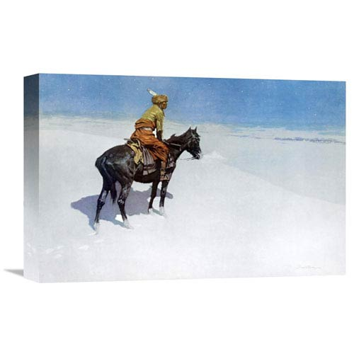 Global Gallery The Scout: Friends Or Enemies? By Frederic Remington, 18 X 12-Inch Wall Art