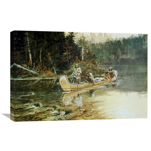 Global Gallery On The Flathead By Charles M. Russell, 30 X 20-Inch Wall Art
