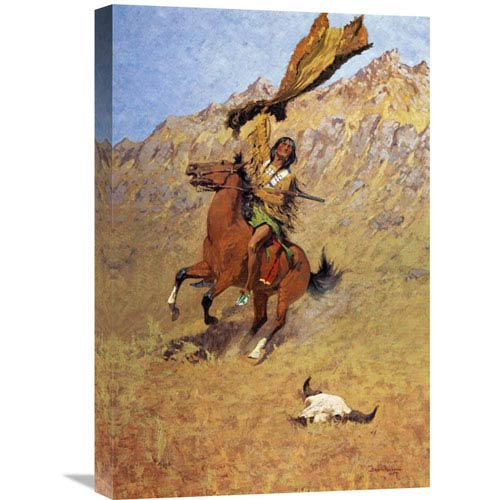 Global Gallery If Skulls Could Speak By Frederic Remington, 16 X 24-Inch Wall Art
