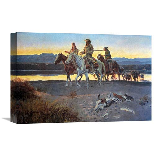 Global Gallery Carsons Men By Charles M. Russell, 18 X 12-Inch Wall Art