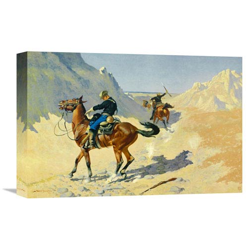 Global Gallery The Advance Guard By Frederic Remington, 18 X 12-Inch Wall Art