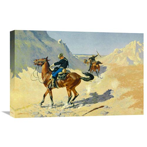 Global Gallery The Advance Guard By Frederic Remington, 24 X 16-Inch Wall Art