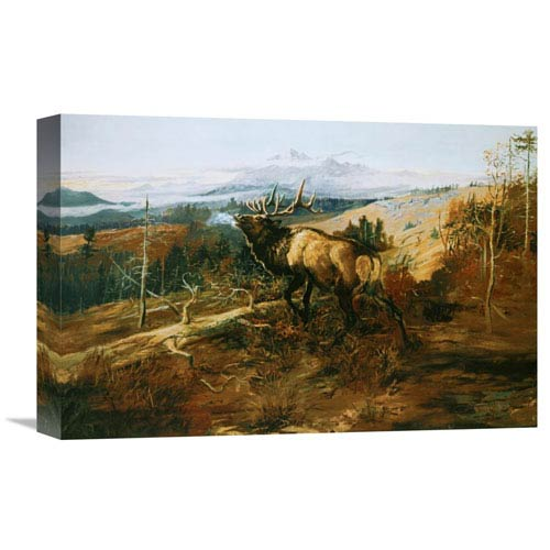 Global Gallery The Elk By Charles M. Russell, 18 X 12-Inch Wall Art