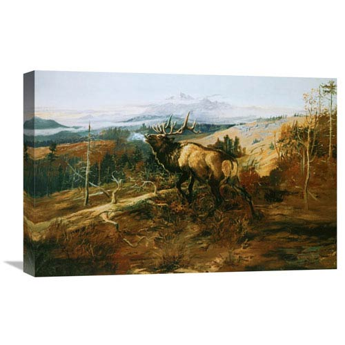 Global Gallery The Elk By Charles M. Russell, 24 X 16-Inch Wall Art