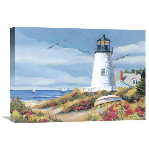 Global Gallery Lighthouse Harbor I By Kathleen Denis, 24 X 18-Inch Wall Art