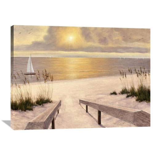 Global Gallery Beach Glow By Diane Romanello, 40 X 30-Inch Wall Art