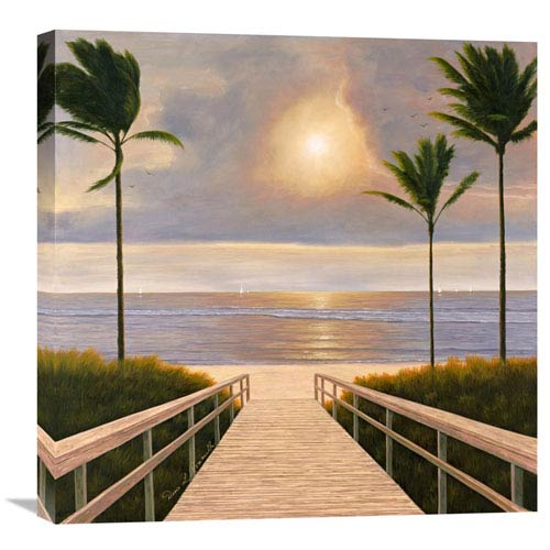 Global Gallery Palm Winds By Diane Romanello, 24 X 24-Inch Wall Art