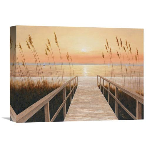 Global Gallery Walkway To Sea By Diane Romanello, 16 X 12-Inch Wall Art