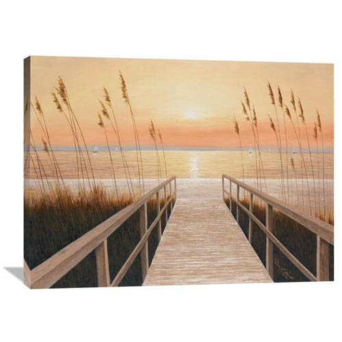 Global Gallery Walkway To Sea By Diane Romanello, 40 X 30-Inch Wall Art