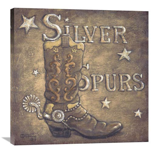 Global Gallery Silver Spurs By Janet Kruskamp, 30 X 30-Inch Wall Art