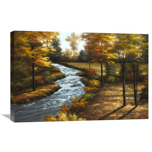 Global Gallery Roaring Brook By Diane Romanello, 30 X 20-Inch Wall Art