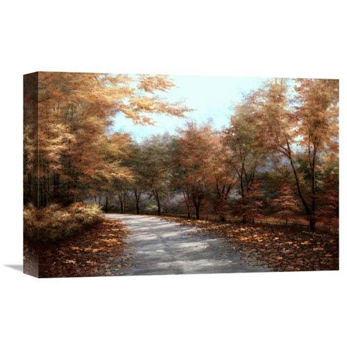 Global Gallery Maple Lane By Diane Romanello, 18 X 12-Inch Wall Art