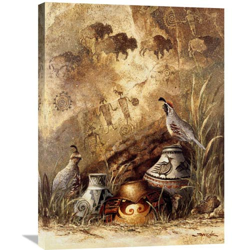 Global Gallery Pots And Quails By James Lee, 24 X 32-Inch Wall Art