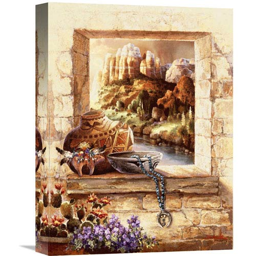 Global Gallery Pottery Window By James Lee, 12 X 16-Inch Wall Art