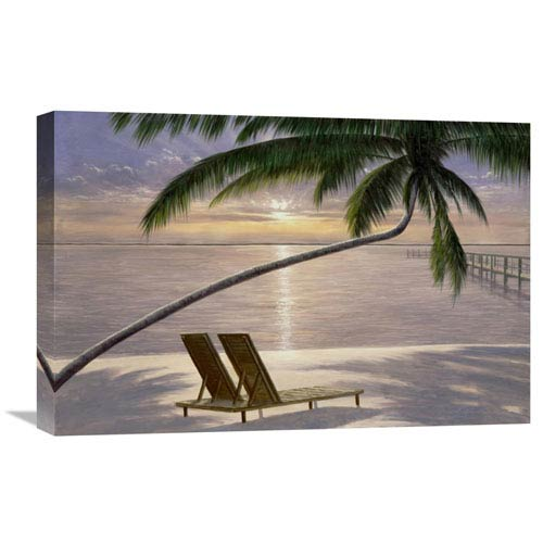 Global Gallery Chaise For Two By Diane Romanello, 24 X 16-Inch Wall Art
