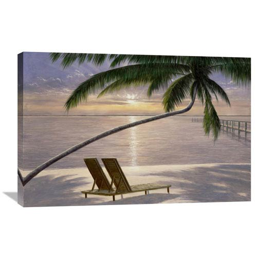 Global Gallery Chaise For Two By Diane Romanello, 36 X 24-Inch Wall Art