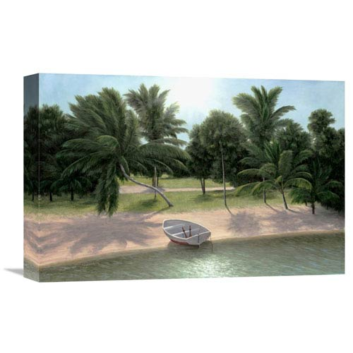 Global Gallery Lakeside Palms By Diane Romanello, 18 X 12-Inch Wall Art