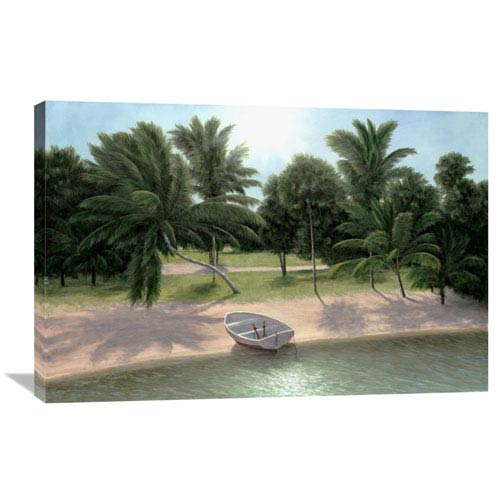 Global Gallery Lakeside Palms By Diane Romanello, 36 X 24-Inch Wall Art
