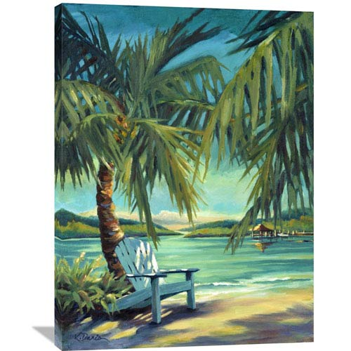 Global Gallery Sunset Harbor By Kathleen Denis, 30 X 40-Inch Wall Art