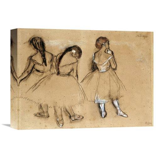 Global Gallery Three Dancers By Edgar Degas, 16 X 14-Inch Wall Art
