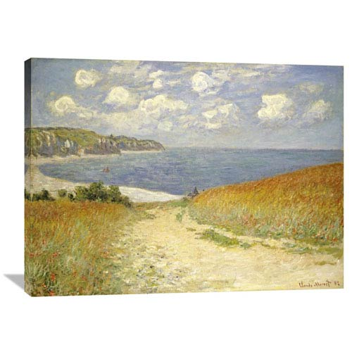 Global Gallery Path Through The Wheat Fields At Pourville, 1882 By Claude Monet, 40 X 29-Inch Wall Art