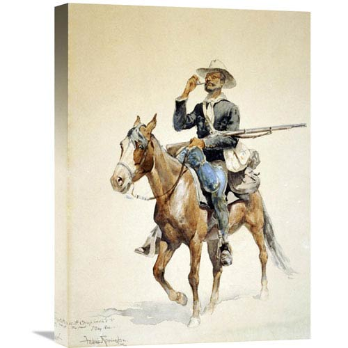Global Gallery A Mounted Infantryman By Frederic Remington, 16 X 22-Inch Wall Art
