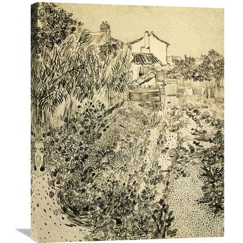 Global Gallery The Flower Garden By Vincent Van Gogh, 24 X 30-Inch Wall Art