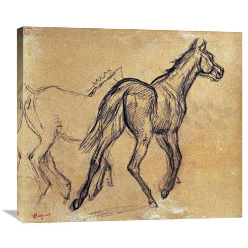 Global Gallery Horses By Edgar Degas, 30 X 26-Inch Wall Art
