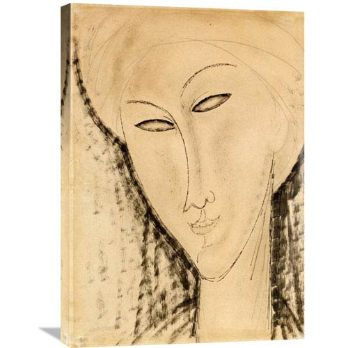 Global Gallery Tete De Femme By Amedeo Modigliani, 21 X 30-Inch Wall Art