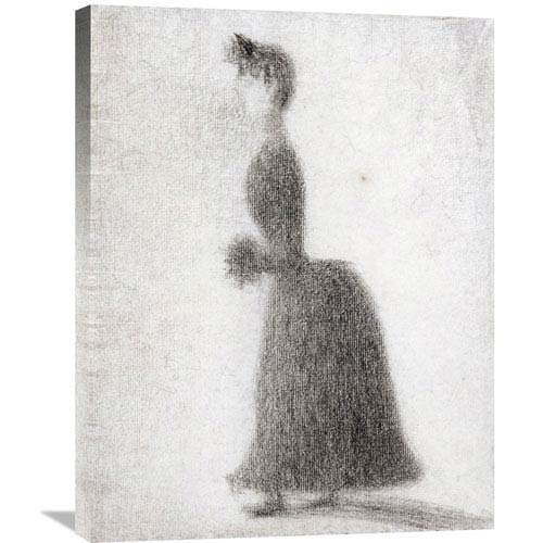 Global Gallery La Promeneuse Au Manchon By Georges Seurat, 23 X 30-Inch Wall Art