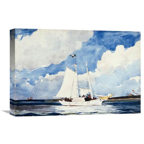 Global Gallery Fishing Schooner, Nassau By Winslow Homer, 22 X 15-Inch Wall Art
