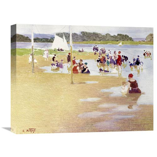 Global Gallery Bathers By Edward Henry Potthast, 22 X 17-Inch Wall Art