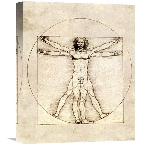 Global Gallery Proportions Of The Human Figure By Leonardo Da Vinci, 12 X 16-Inch Wall Art